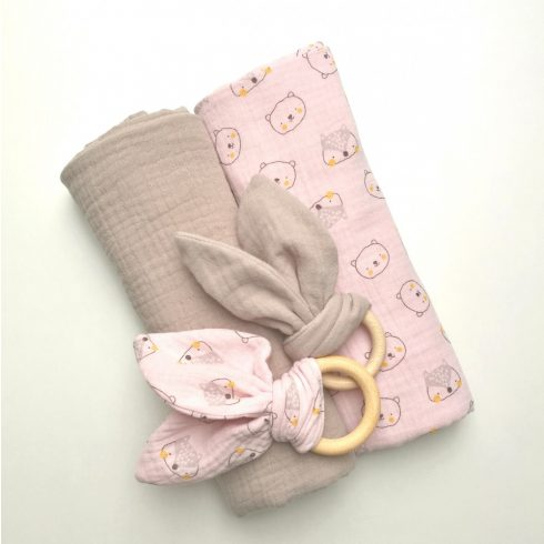 Baby blanket, summer cotton muslin, large size