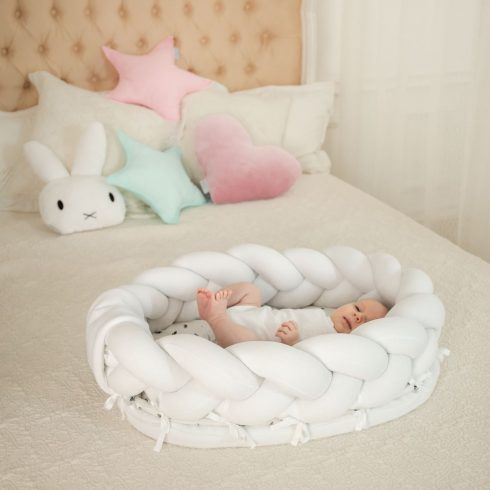 Braided baby nest mini white