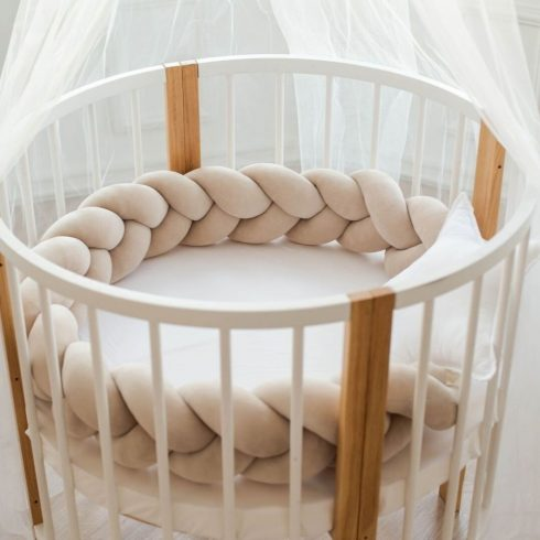 Cot bumpers beige in 6 sizes