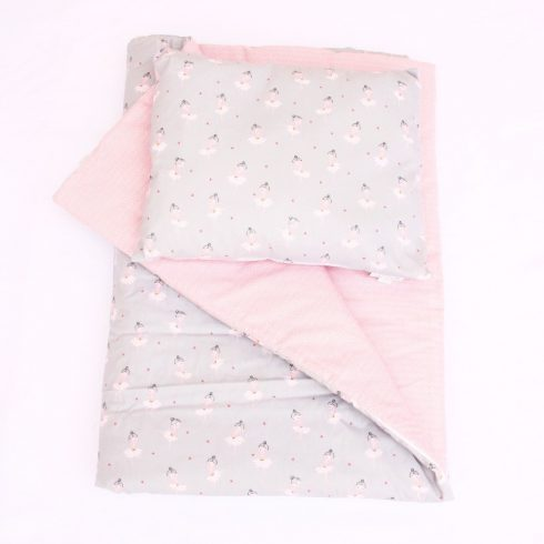 Baby bedding set duvet and pillow pink ballerina cover and quilt