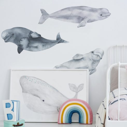 Nursery decal Beluga ocean
