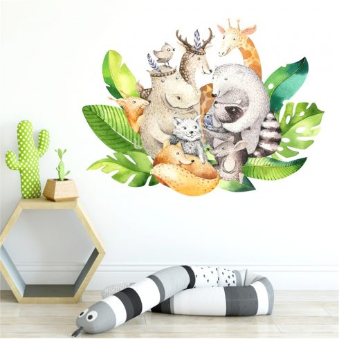 Nursery decal Forest animals